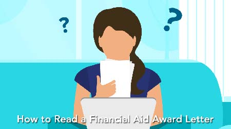 How To Read A Financial Aid Award Letter information. Decoration Only.