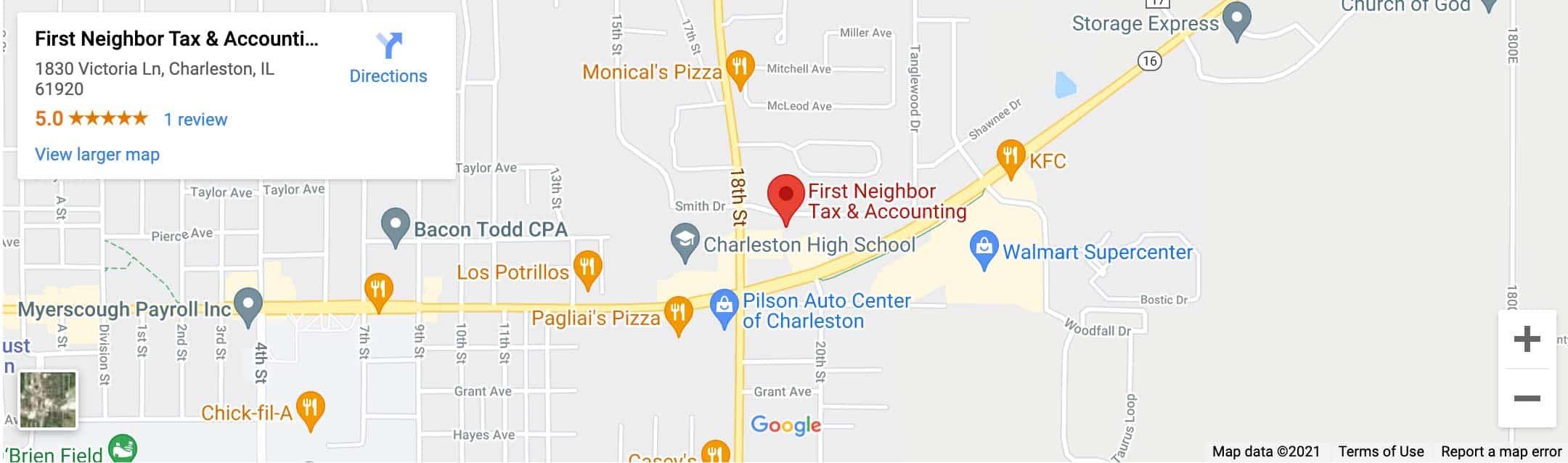 Decorative - First Neighbor Tax & Accounting Charleston Google Map Image