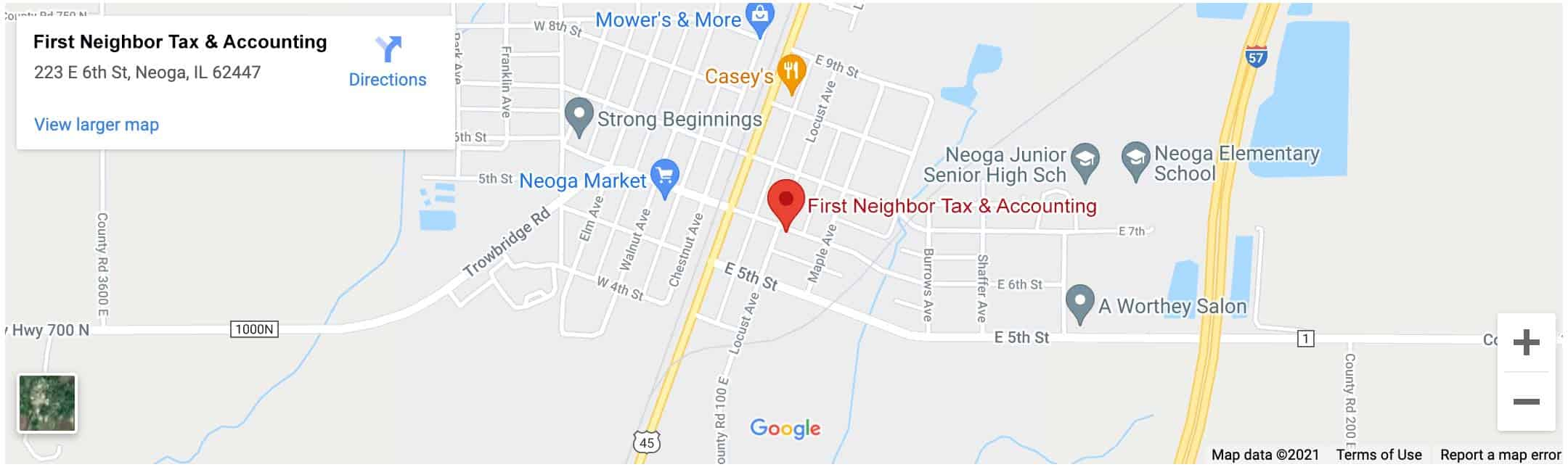 Decorative - First Neighbor Tax & Accounting Neoga Google Map Image