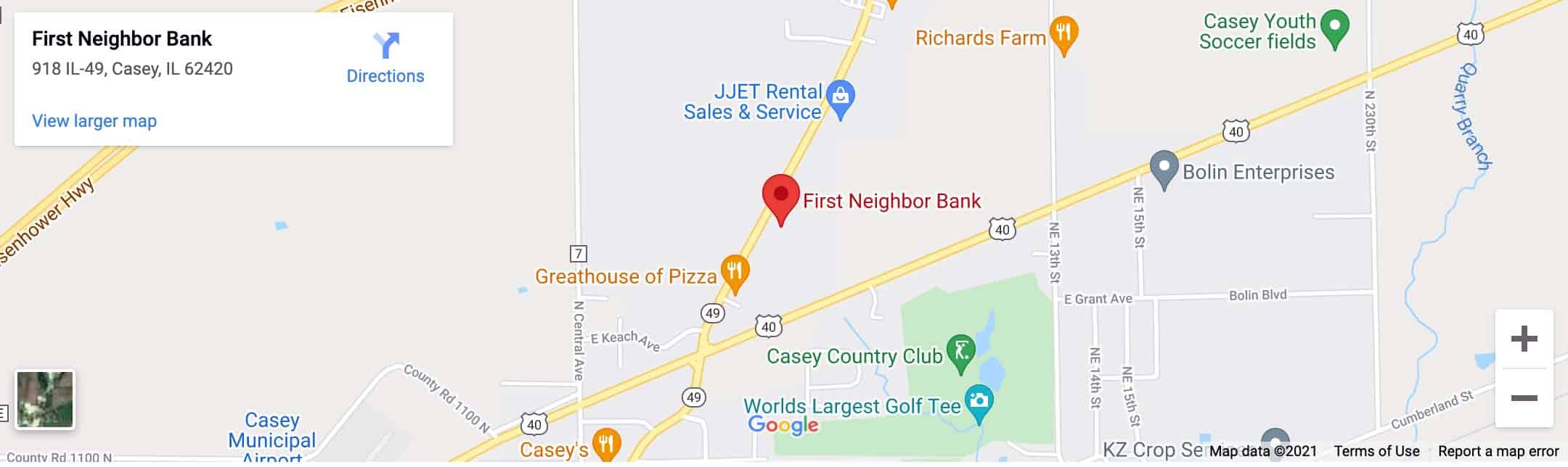 Decorative - Casey Branch Google Map Image
