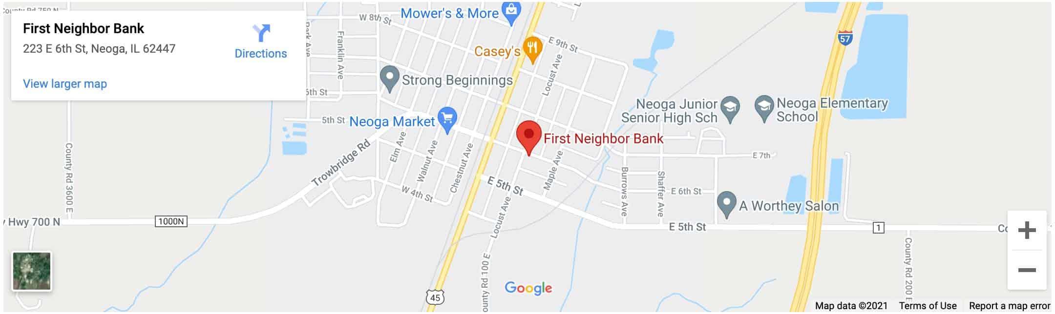 Decorative - First Neighbor Bank Neoga Google Map Image
