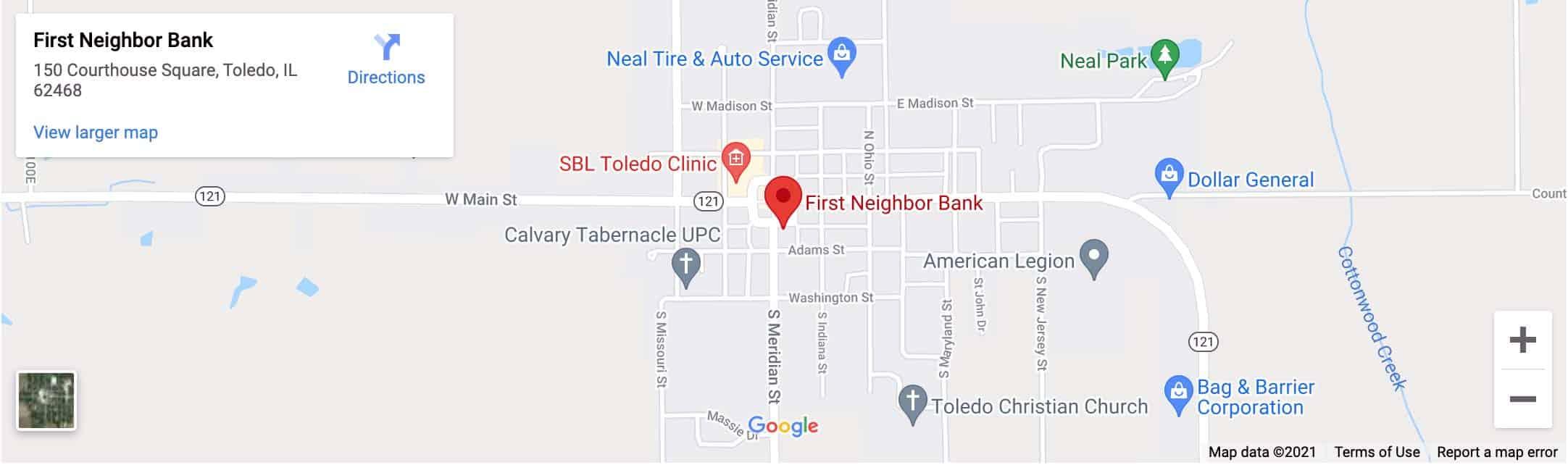 FNB Toledo Branch Google Map Image