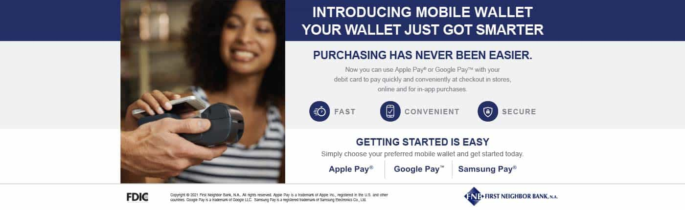 Mobile Wallet Ad - Click here for more information